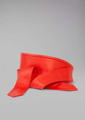 Giorgio Armani Wide Leather Belt