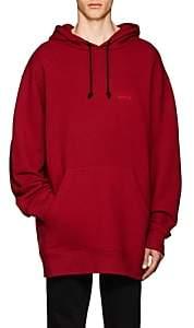 Calvin Klein Men's Logo Cotton Terry Oversized Hoodie-Md. Red