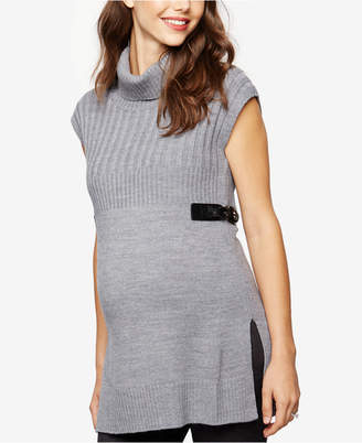 Design History Maternity Sleeveless Turtleneck Sweater $88 thestylecure.com