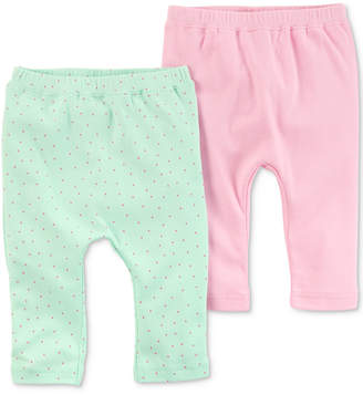 Carter's Little Planet Organics 2-Pack Cotton Pants, Baby Girls