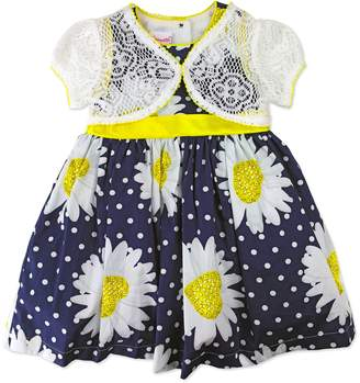 Nannette Toddler Girl Floral Dress & Lace Shrug Set