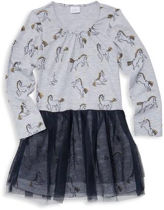 EGG Little Girl's & Girl's Layla Print Layered Dress