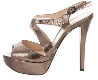 Alexandre Birman Metallic Platform Sandals