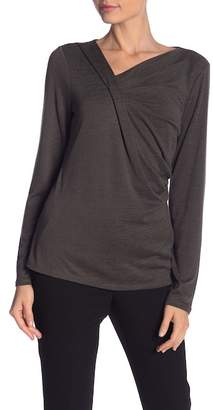 Nic+Zoe Every Occasion Drape Long Sleeve Top