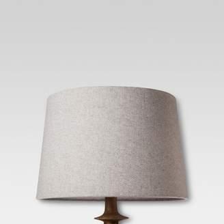 Threshold Large Gray Herringbone Lamp Shade
