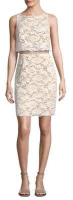Bailey 44 Desert Moon Cutout-Waist Lace Dress