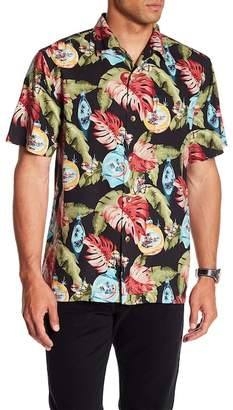 Tommy Bahama With Bells On Original Fit Short Sleeve Silk Shirt