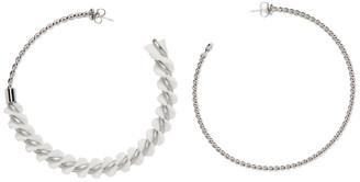MM6 MAISON MARGIELA Silver Spiral Hoops