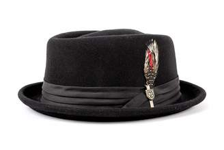 Brixton Men's Stout Short Brim Pork Pie Felt Fedora