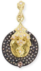 Armenta Old World Disc Enhancer with Diamonds & Color-Change Garnet