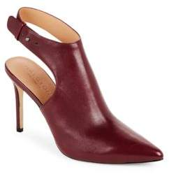 Point-Toe Round-Toe Slingback Booties $395 thestylecure.com