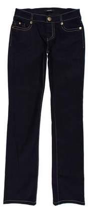 Versace Low-Rise Straight-Leg Jeans