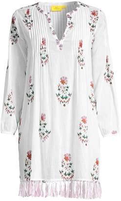 Roller Rabbit Arelle Ziva Floral Fringe Tunic Dress