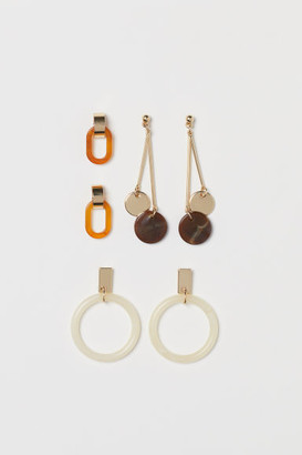 H&M 3 Pairs Earrings - Gold