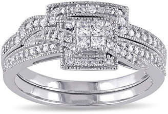 JCPenney MODERN BRIDE 1/3 CT. T.W. Diamond 10K White Gold Multi-Top Bridal Ring Set