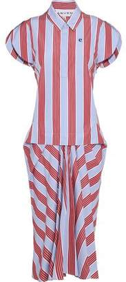 Carven Striped Cotton-Poplin Midi Dress