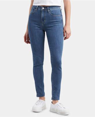 Levi's 721 High-Rise Pin Stripe Skinny Jeans