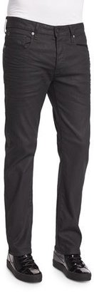G-Star 3301 3D Aged Straight-Leg Jeans, Navy $180 thestylecure.com