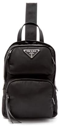 Prada - Nylon Single Strap Cross Body Backpack - Womens - Black