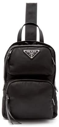 Prada Nylon Single Strap Cross Body Backpack - Womens - Black