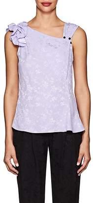 Mayle Maison Women's Lace-Detailed Floral Silk Blouse