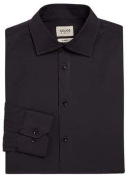 Giorgio Armani Slim-Fit Cotton Dress Shirt