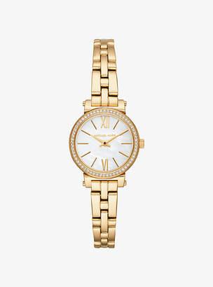 Michael Kors Petite Sofie Pave Gold-Tone Watch