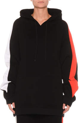 MSGM Oversized Cotton Hoodie w/ Arrows