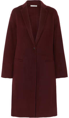Vince Brushed Wool-blend Coat - Burgundy