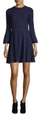 Eliza J Bell-Sleeve Fit-And-Flare Dress