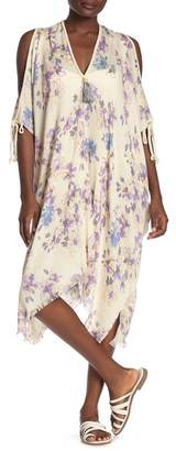 Pool' POOL TO PARTY Cold Shoulder Floral Print Cover-Up