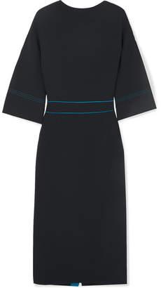 Roksanda Mave Bow-embellished Crepe Dress - Navy