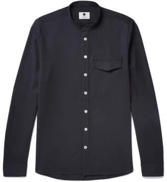 NN07 Stockholm Grandad-Collar Twill Shirt