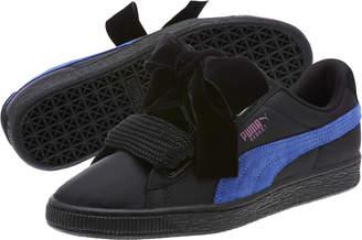 Basket Heart Nylon Womens Sneakers