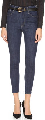 Levi's Mile High Super Skinny Crop Jeans $78 thestylecure.com