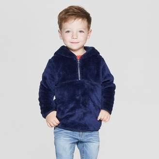 Cat & Jack Toddler Boys' Teddy Bear Fleece Hoodie Navy