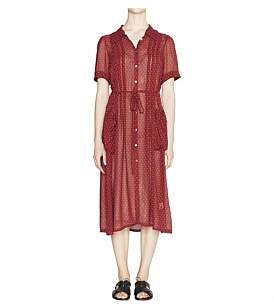 Lee Mathews Mali Silk Button Down Dress