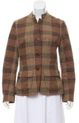 Façonnable Plaid Button-Up Jacket