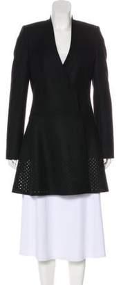 Balenciaga Virgin Wool-Blend Wrap Knee-Length Coat Black Virgin Wool-Blend Wrap Knee-Length Coat