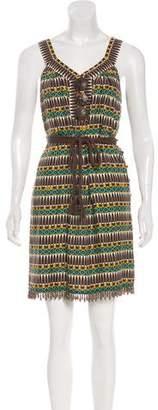 Milly Geometric Beaded Dress