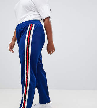 Asos DESIGN Curve track pants with studded side tape