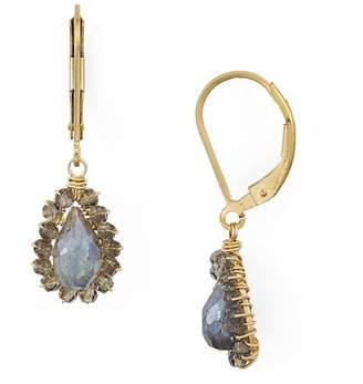 Dana Kellin Faceted Stone Teardrop Drop Earrings