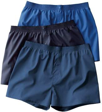 CASTALUNA MEN'S BIG & TALL Pack of 3 Cotton Poplin Boxer Shorts