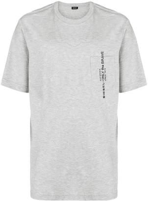 Diesel front script printed T-shirt