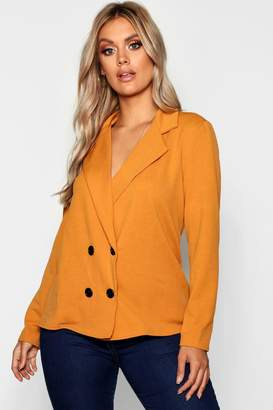 boohoo Plus Tailored Button Blazer
