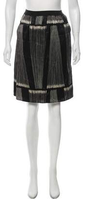 Ter Et Bantine Silk Pattern Knee-Length Skirt