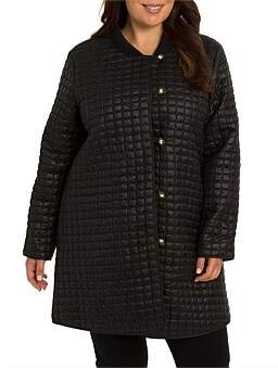 Yarra Trail Woman Quilted Button Up Coat