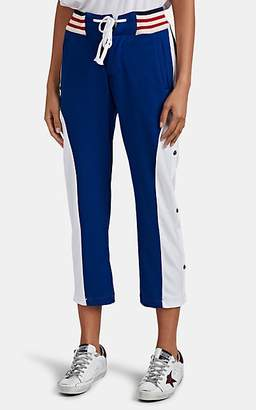 Greg Lauren Women's Colorblocked Tech-Jersey Lounge Pants - Navy