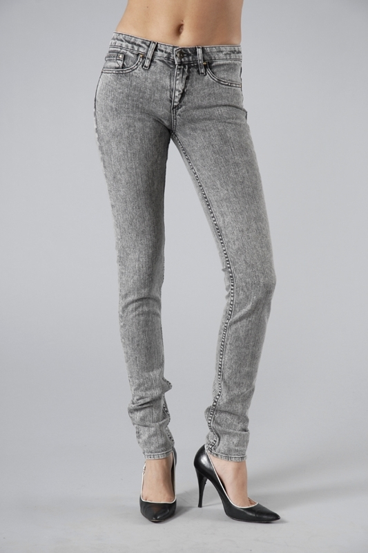 Corpus Skinny Leg Jeans in Grey Acid