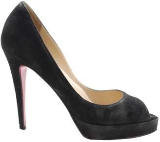 Christian Louboutin Black Suede High heel